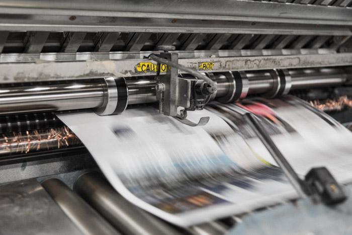 Close up of a photo printer at work