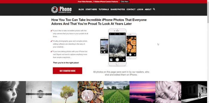 Screenshot of Fstoppers photography website