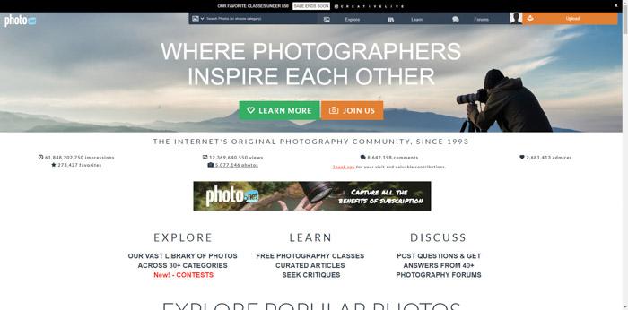 Screenshot of Lphoto.netphotography websites homepage