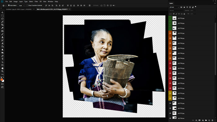 A screen grab of a photo montage with a Karen woman.