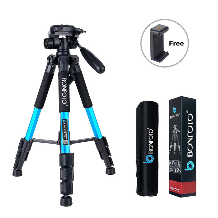 Image of a BONFOTO travel tripod - camera accessories are a perfect gift for photographers