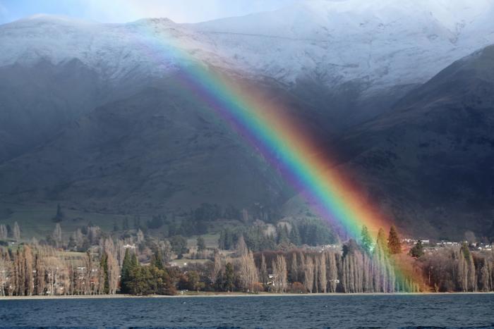 Photo of a rainbow over a beautiful coastal landscape - travel photography checklist
