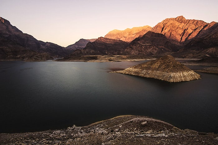 Beautiful evening landscape photo taken with 3:2 aspect ratio