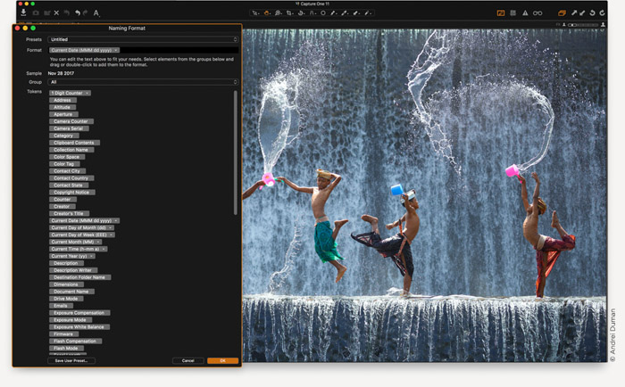 A screenshot of editing in Capture One Pro. Capture One vs Lightroom.
