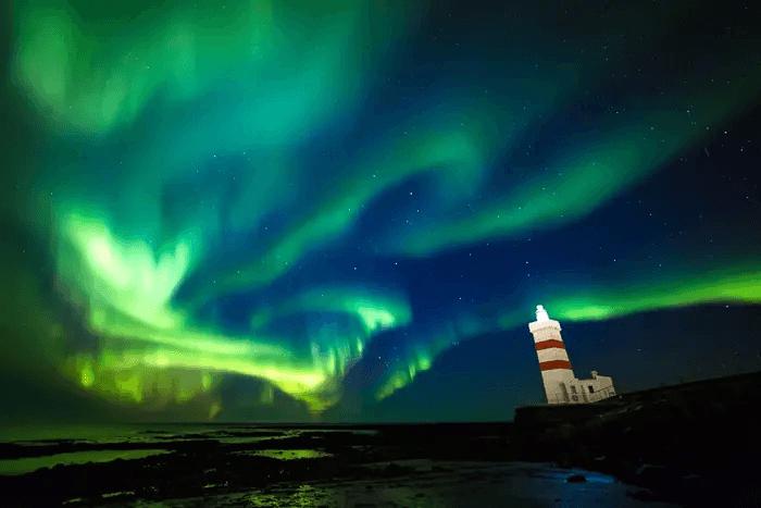 Time-lapse photo of the aurora borealis