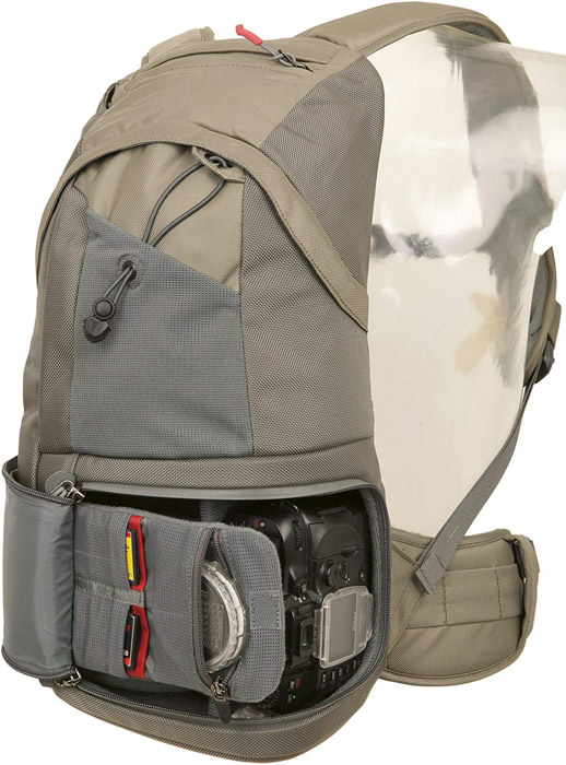 CE706GR Compact by Clik Elite camera backpack on white background