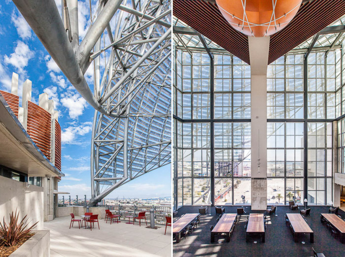 A diptych of interesting multi windowed architecture for a commercial photography shoot