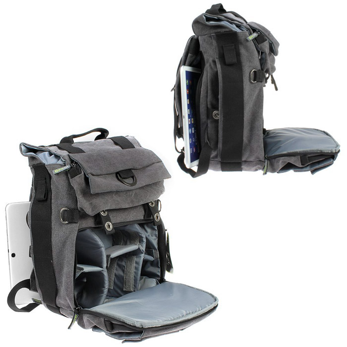 Evecase Canvas Backpack  - stylish camera bags for men
