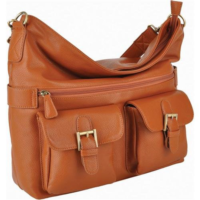 A Jo Totes Gracie leather camera bag for women on white background