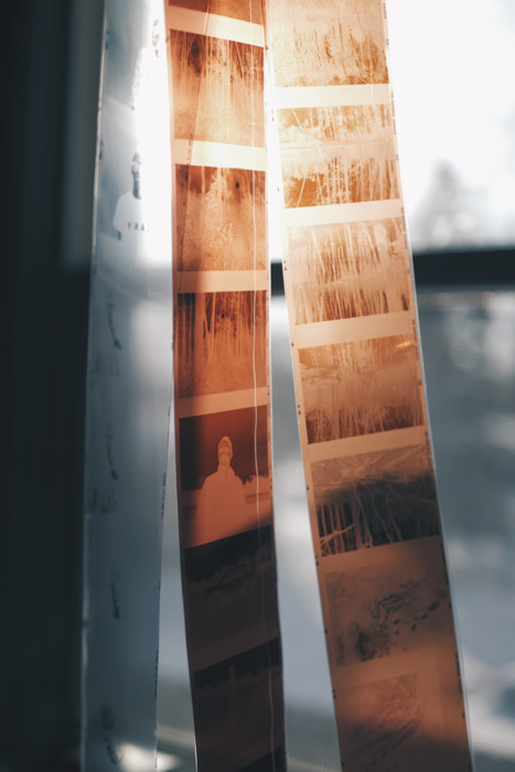 A close up of film photography negatives