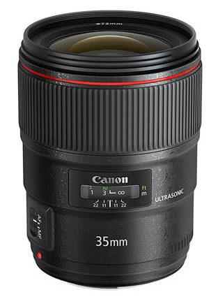 A Canon 35mm lens