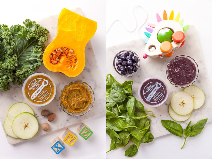 tiny tummies food photography diptych by darina kopcok - product photography tips for styling
