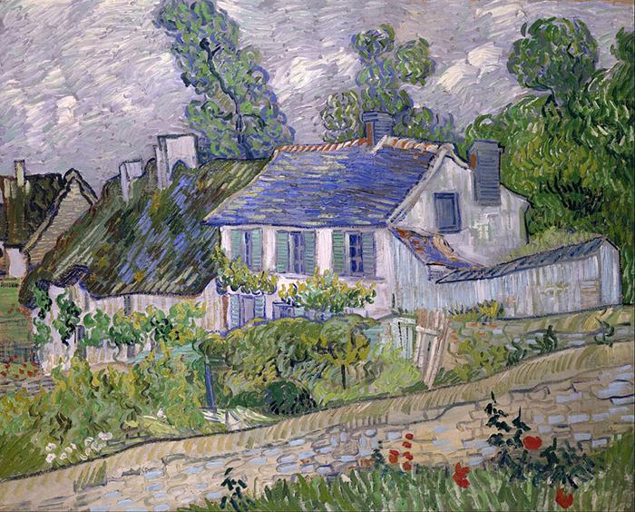Une peinture couleur d'une maison
