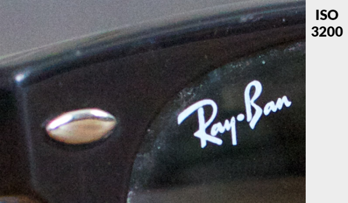 A close up image of ran ban sunglasses taken with ISO 3200 - what is ISO?