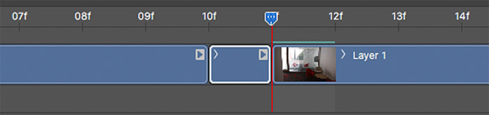 Screenshot of Isolating a single frame ready for deletion on Photoshop