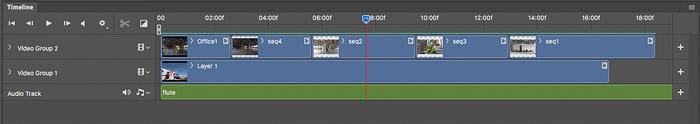 screenshot of a timelapse time line header