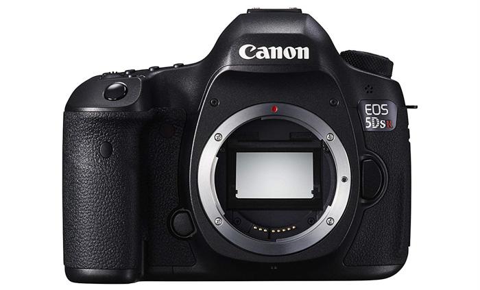 Canon EOS 5DSr on white background - portrait cameras