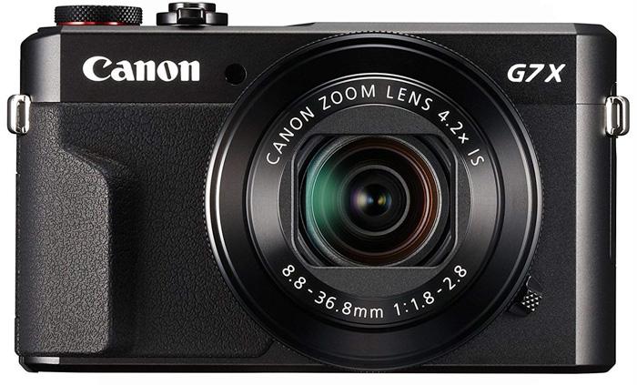Canon PowerShot G7 X Mark II on white background