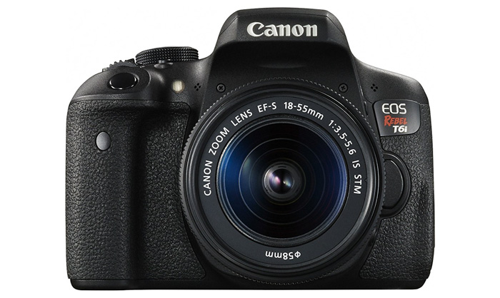 A Canon EOS Rebel T6i best camera for portraits