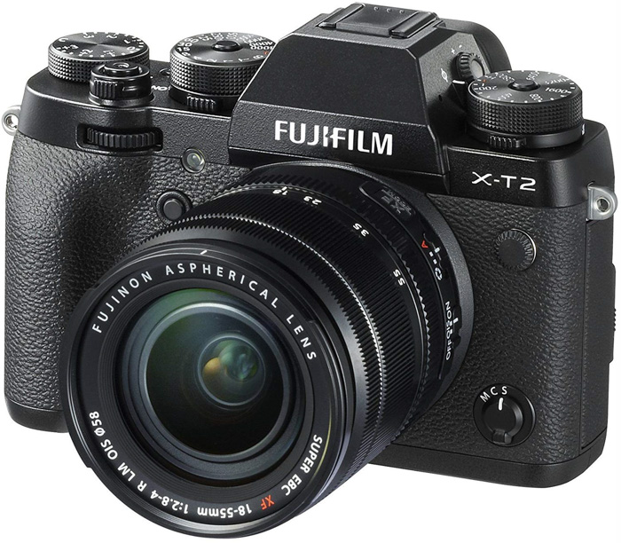 A Fujifil xt2 camera for portrait photography