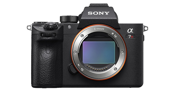 A Sony Alpha A7R III camera for portrait photography