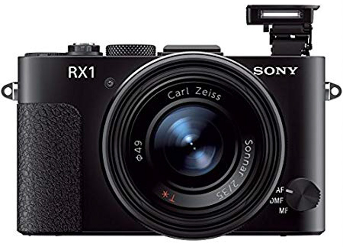 A Sony Cybershot DSC-RX1. on white background - best camera for portraits