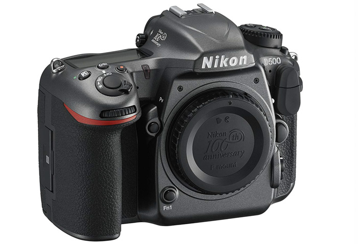 The Nikon D500 DSLR on white background - best Nikon camera