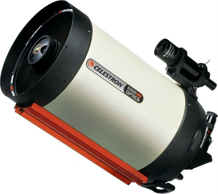 A Celestron EdgeHD 11 on white background - best telescope for astrophotography