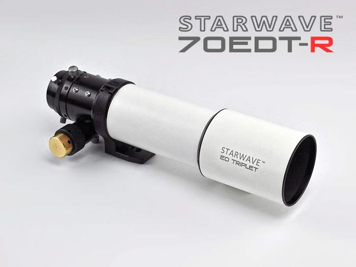 A starwave best telescope for astrophotography on white background