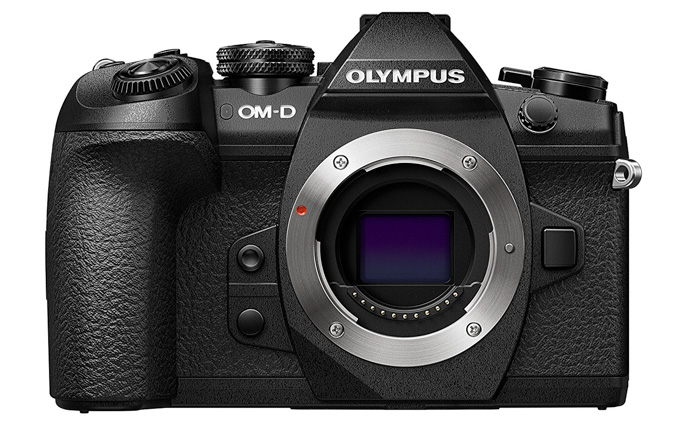 Olympus OM-D E-M1 Mark II on white background