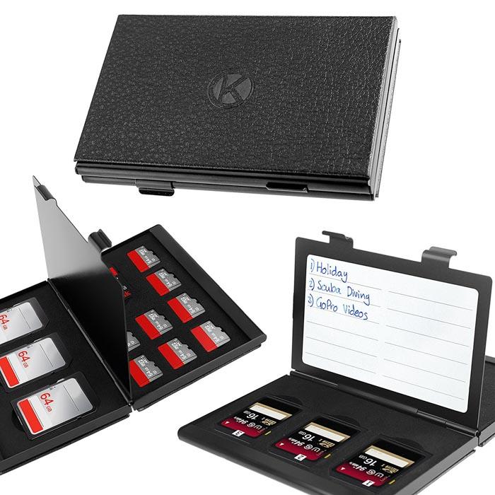 Imagem da capa protetora de alumínio do cartão de memória Camkix Premium