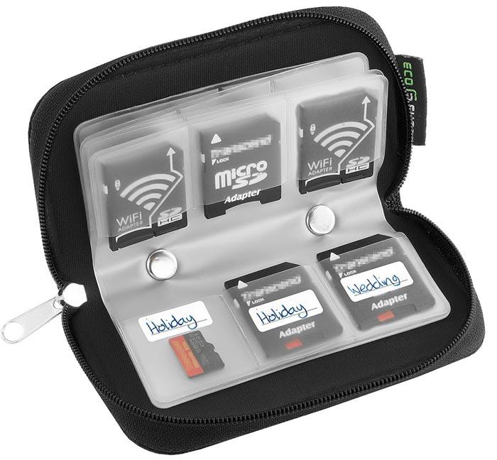 Imagem da bolsa de transporte do cartão de memória Eco-Fused