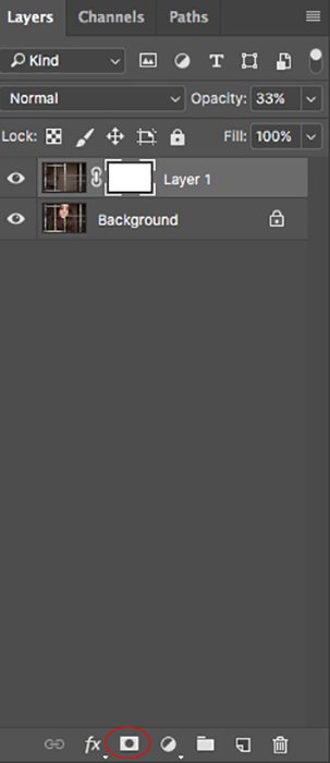 Screenshot of opening layers on Photoshop