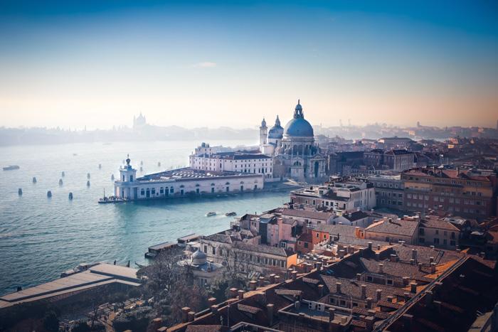 A stunning coastal cityscape