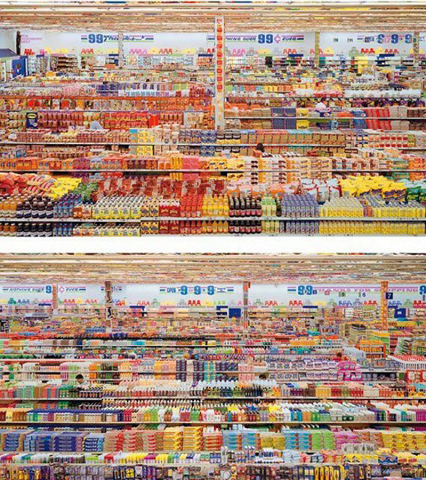 99 Cent II Diptychon, chromogenic colour print by Andreas Gursky