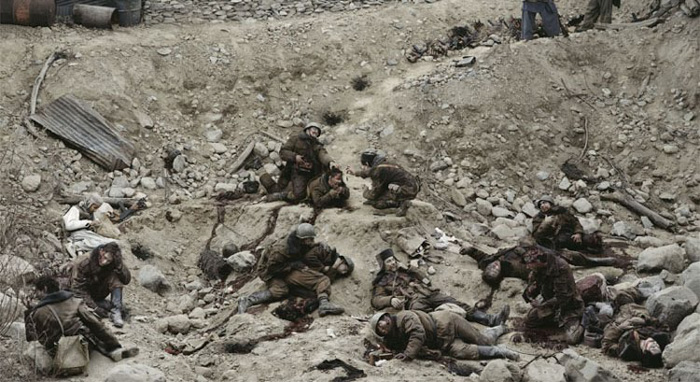 Dead Troops Talk photo by Jeff Wall - one of the most expensive photography ever sold in 1992