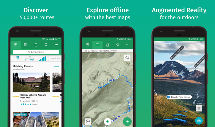 A screenshot of 'viewranger' Best landscape apps for navigating rough terrain