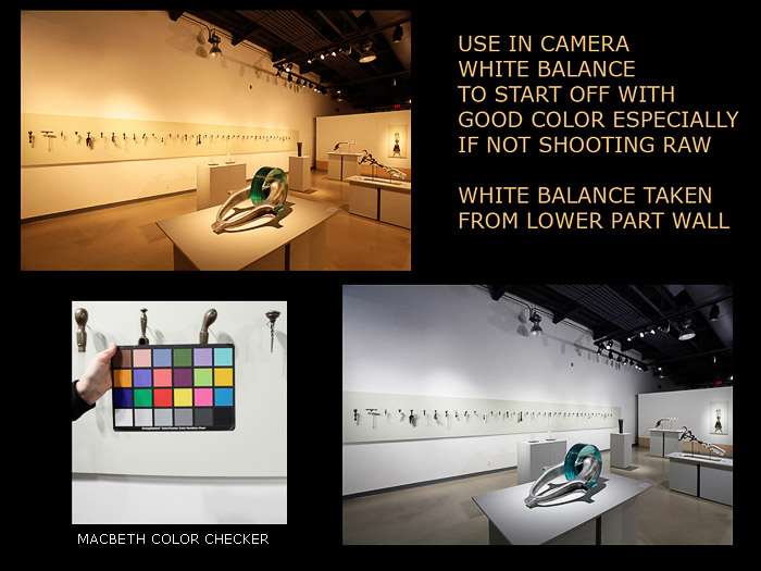 A collection of images showing a colour checker and the before and after images using Custom White Balance