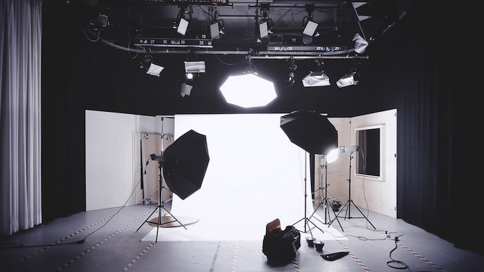 A photo studio set up as part of photography business plan