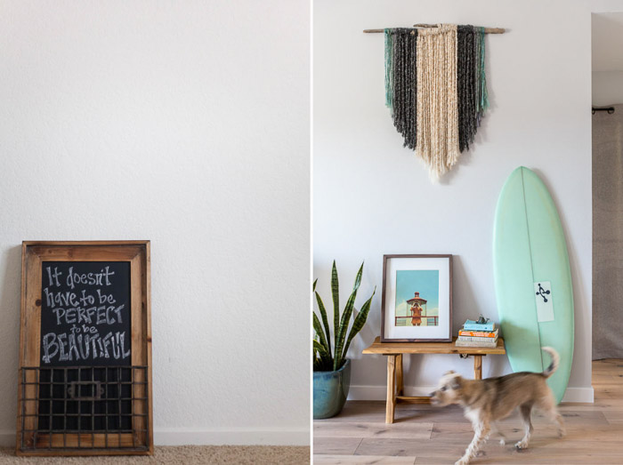 A bright and airy interior photography business diptych