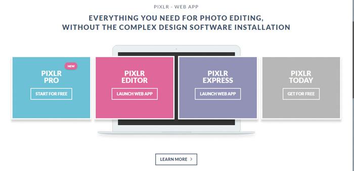 A screenshot of pixlr web app plans