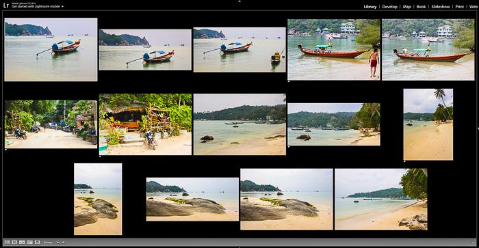 Screenshot of editing photos on Lightroom
