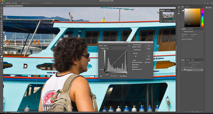 A screenshot of editing a photo in Lightroom