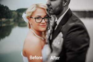 wedding photography editing presets from colour to black and white