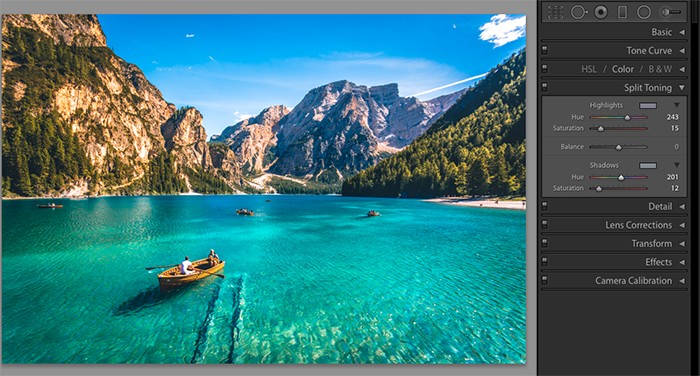 A screenshot showing how to save Lightroom presets - split toning