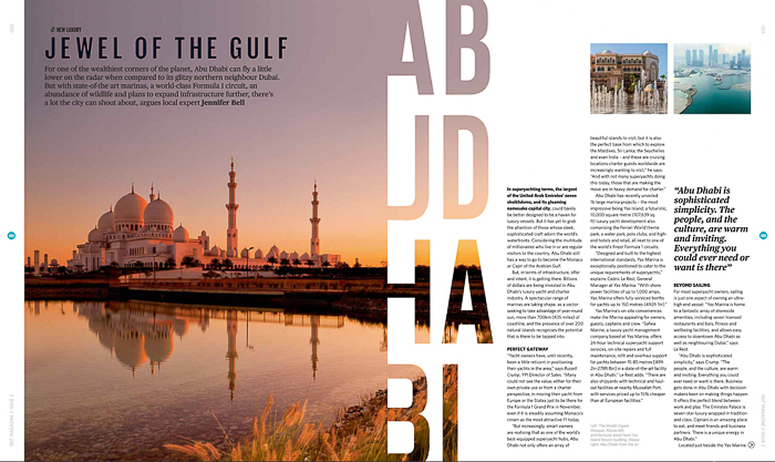 A travel magazine editorial about Abu Dhabi - submitting photography to magazines