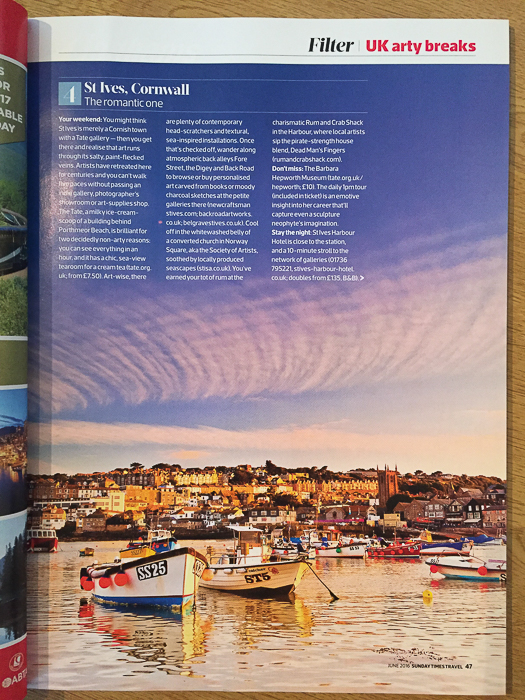 A travel photography article in Filter magazine - tips for submitting your photos to magazines