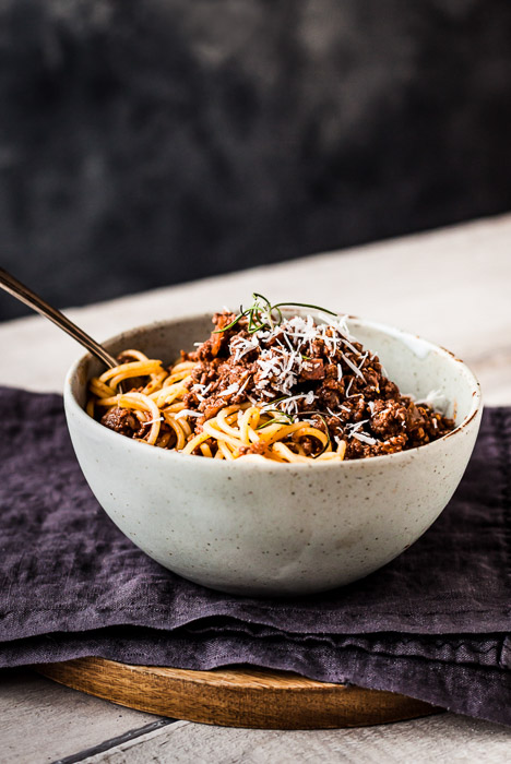 food photo of Spaghetti Bolognese - Best Tripods for Food Photography
