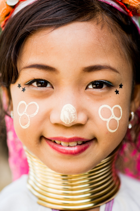 Close up portrait of a smiling young Thai girl