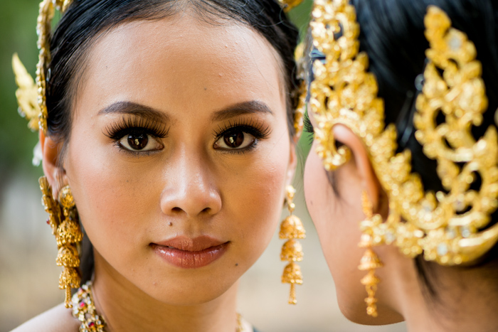 Close up portrait of a beautiful Thai model